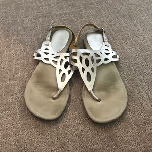 Nine West Silvery Strappy Sandals